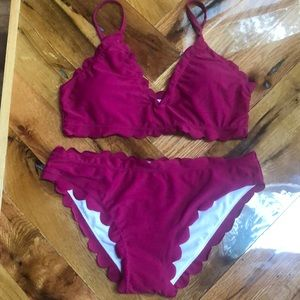 NEW scalloped edge bikini